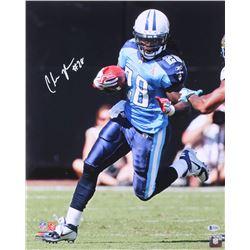 Chris Johnson Signed Titans 16x20 Photo (Beckett COA)