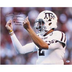"Johnny Manziel Signed Texas AM Aggies 16x20 Photo Inscribed ""$ Money Manziel $"" (Beckett COA)"