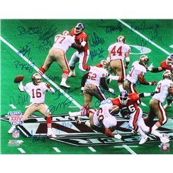 49ers 16x20 Photo Team-Signed by (20) with Joe Montana, Jerry Rice, Roger Craig (JSA COA  Beckett CO