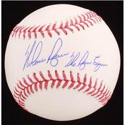 "Nolan Ryan Signed OML Baseball Inscribed ""The Ryan Express"" (AI Verified Hologram  Ryan Hologram)"