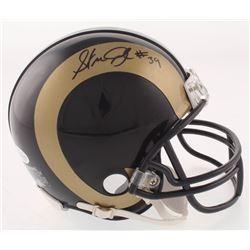 Steven Jackson Signed Rams Mini-Helmet (Beckett COA)