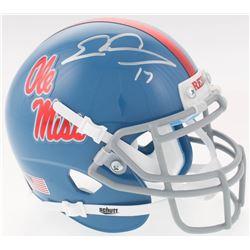 Evan Engram Signed Ole Miss Rebels Mini Helmet (JSA COA)