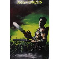 """Bruce Campbell Signed Army Of Darkness 27x40 Movie Poster Inscribed """"Ash"""" (Beckett COA)"""