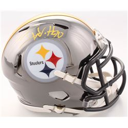T.J. Watt Signed Steelers Chrome Speed Mini Helmet (JSA COA  Watt Hologram)