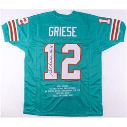 "Bob Griese Signed Career Highlight Stat Jersey Inscribed ""HOF '90"" (JSA COA)"