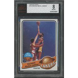 Kareem Abdul-Jabbar 1979-80 Topps #10 All-Star (BVG 8)