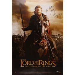 """Viggo Mortensen Signed """"Lord Of The Rings: The Return Of The King"""" 27x40 Movie Poster Inscribed """"A.K"""
