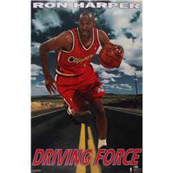 "Ron Harper Signed ""Driving Force"" 23x35 Poster (Beckett COA)"
