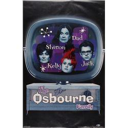"""Ozzy Osbourne Signed """"The Osbourne Family"""" 22x35 Poster (Beckett COA)"""