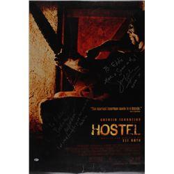 "Jennifer Lim  Barbara Nedeljakova Signed ""Hostel"" 27x40 Movie Poster Photo Inscribed ""Have a scream"