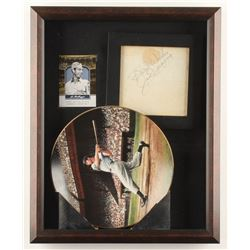"Joe DiMaggio Signed Yankees 12.5x15.5x2 Custom Framed Shadowbox Display Inscribed ""Best Wishes"" (JSA"