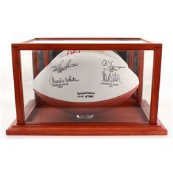 USC Trojans Heisman Winners Logo Football Football Signed by (4) with O.J. Simpson, Mike Garrett, Ma