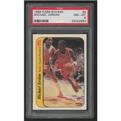 Michael Jordan 1986-87 Fleer Stickers #8 (PSA 8)