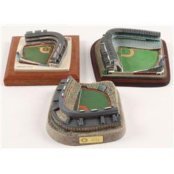 Lot of (3) Wrigley Field Stadium Figurines