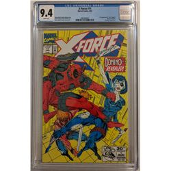 """1992 """"X-Force"""" Issue #11 Marvel Comic Book (CGC 9.4)"""