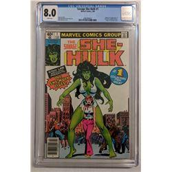 "1980 ""The Savage She-Hulk"" Issue #1 Marvel Comic Book (CGC 8.0)"