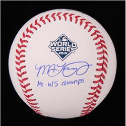 "Michael Taylor Signed 2019 World Series Baseball Inscribed ""19 WS Champs"" (Beckett COA)"