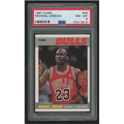 Michael Jordan 1987-88 Fleer #59 (PSA 8)