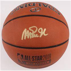 Magic Johnson Signed 2018 All-Star Game Basketball (Beckett COA)