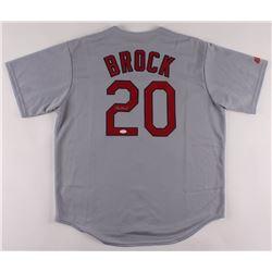 Lou Brock Signed Cardinals Jersey (JSA COA)