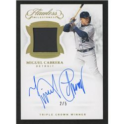Miguel Cabrera 2019 Panini Flawless Milestones Jersey Autographs Gold #11