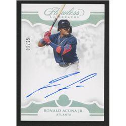Ronald Acuna Jr. 2019 Panini Flawless Autographs #15