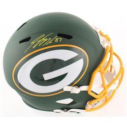 Jordy Nelson Signed Packers Full-Size AMP Alternate Speed Helmet (Beckett COA)
