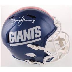 Daniel Jones Signed Giants Full-Size Speed Helmet (JSA COA)