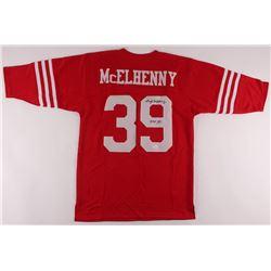 """Hugh McElhenny Signed Jersey Inscribed """"HOF 70"""" (JSA COA)"""