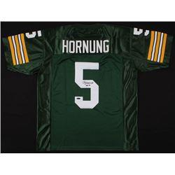 """Paul Hornung Signed Jersey Inscribed """"HOF 86"""" (TriStar Hologram)"""