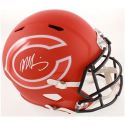 Mike Singletary Signed Bears Full-Size AMP Alternate Speed Helmet (Beckett COA)