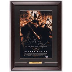 "Christian Bale Signed ""The Dark Knight"" 18x24.5 Custom Framed Photo Display (PSA COA)"