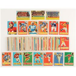 Complete Set of (120) 1956 Topps Football Cards With Y.A. Tittle, Joe Perry, Joe Schmidt, Alex Webst