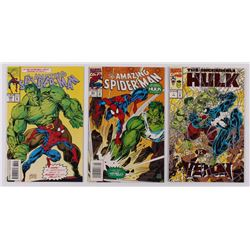 """Lot of (3) Assorted Marvel Comic Books with """"The Amazing Spider-Man"""" Issue #382, """"The Aamzing Spider"""