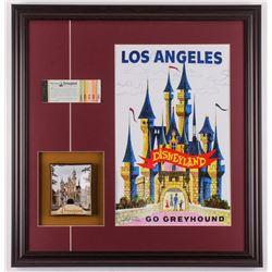 Disneyland 22.5x23.5 Custom Framed Print Display with Ticket Booklet  Plate