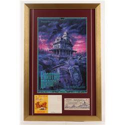 "Walt Disney's Disneyland Paris ""Phantom Manor"" 17x26 Custom Framed Print Display with Postcard Bookl"