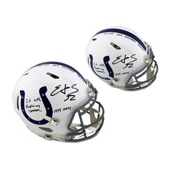 Edgerrin James Signed Colts Full-Size Authentic On-Field Speed Helmet with (3) Career Stat Inscripti