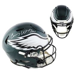 """Carson Wentz Signed Eagles Full-Size Authentic On-Field SpeedFlex Helmet Inscribed """"A01"""" (Fanatics H"""