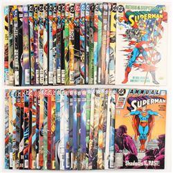 "Lot of (40) ""Superman"" 2nd Series Action Comics DC Comic Books"