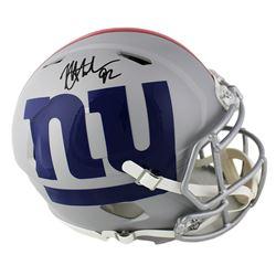 Michael Strahan Signed Giants Full-Size AMP Authentic On-Field Speed Helmet (Radtke COA)