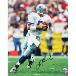 Troy Aikman Signed Cowboys 16x20 Photo (Beckett COA)