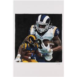 Todd Gurley - Rams - Josuah Barton 12x18 Signed Limited Edition Lithograph #/250 (PA COA)