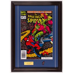 """The Spectacular Spider-Man"" 18x25 Custom Framed Print Display with Pin"