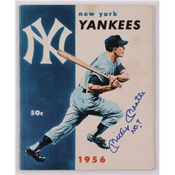 "Mickey Mantle Signed Official 1956 Yankees Yearbook Inscribed ""No. 7"" (JSA LOA)"