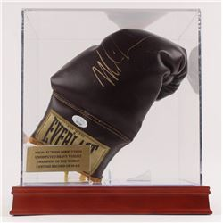 Mike Tyson Signed Vintage Everlast Boxing Glove with Display Case (JSA COA)