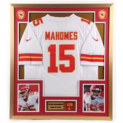 Patrick Mahomes Chiefs 32x36 Custom Framed Jersey Display with Chiefs Pin