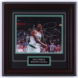 Paul Pierce Signed Celtics 16x16 Custom Framed Photo Display (Pierce COA)