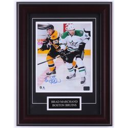 Brad Marchand Signed Bruins 14x18 Custom Framed Photo Display (Marchand COA)
