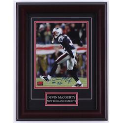 Devin McCourty Signed Patriots 14x18 Custom Framed Photo Display (YSMS COA)