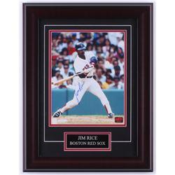 Jim Rice Signed Red Sox 14x18 Custom Framed Photo Display (Rice COA)